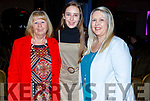 Margaret O'Connor, Ava Duggan and Denise Drumm attending the John Mitchels Lip Sync in the Ballygarry House Hotel on Sunday night.