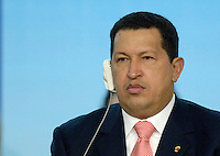 Il presidente del Venezuela Hugo Chavez alla cerimonia per il 60esimo anniversario della Fao. Roma, 17 ottobre 2005..Venezuela's president Hugo Chavez at the ceremony for United Nations Food and Agricultural Organization (FAO) 60th anniversary. Rome, 17th october 2005..UPDATE IMAGES PRESS/Riccardo De Luca
