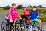 The Nolan from the Spa, family out on a cycle in Coockleshell beach on Sunday. <br /> L to r: Melissa, Derek and Conor Nolan