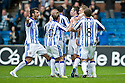KILMARNOCK'S PAUL HEFFERNAN CELEBRATES WITH TEAM MATES AFTER HE SCORES KILLIE'S SECOND