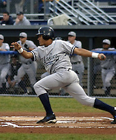 July 10, 2003:  Outfielder Melky Cabrera of the Staten Island Yankees, Class-A affiliate of the New York Yankees, during a NY-Penn League game at Dwyer Stadium in Batavia, NY.  Photo by:  Mike Janes/Four Seam Images