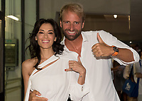 Giorgia Surina and Massimiliano Rosolino presenters of the show<br /> day 01  08-08-2017<br /> Energy For Swim<br /> Rome  08 -09  August 2017<br /> Stadio del Nuoto - Foro Italico<br /> Photo Deepbluemedia/Insidefoto