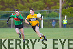 In Action  Emmets Noel Kennelly and Beale's Padraig Murphyfrom  the Bernard O'Callaghan Memorial Senior Football Championship final last Saturday Beale V Listowel Emmets