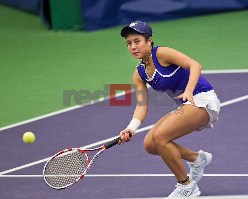 Denise Dy..--------Washington Huskies women's tennis team vs California Bears at the Nordstrom Tennis Center in Seattle on Friday, March 16, 2012. (Photo by Dan DeLong/Red Box Pictures)