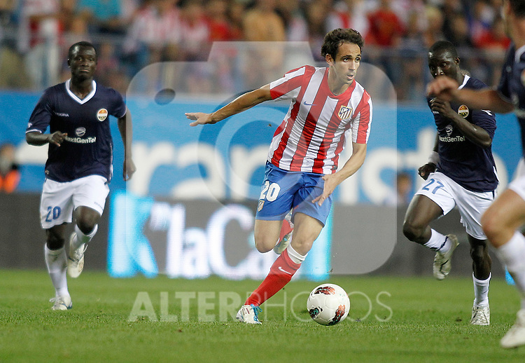 Atletico de Madrid's Juanfran Torres during UEFA Europa League third qualifying round match. July 28, 2011. (ALTERPHOTOS/Alvaro Hernandez)