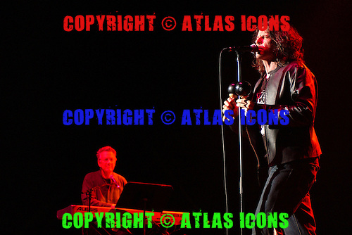 Ray Manzarek, Ian Ashbury of The Doors perform at the Sound Advice Amptheater on June 10, 2005 in West Palm Beach, Florida<br /> Photo By Larry Marano/Atlasicons