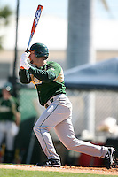 February 20, 2009:  Outfielder Chris Rey (11) of the University of South Florida during the Big East-Big Ten Challenge at Jack Russell Stadium in Clearwater, FL.  Photo by:  Mike Janes/Four Seam Images
