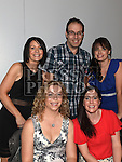 Lisa Hughes, Olivia Devin, Brenda Hayes, Ollie Moss and Sabrina Woods at St Olivers Community College class of 1996 reunion. Photo:Colin Bell/pressphotos.ie
