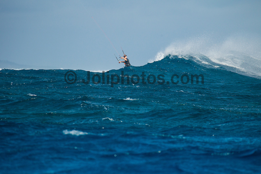 Namotu Island Resort, Fiji. (Friday, August 31, 2012) -   Light winds this morning and with 4' 6' swell  provided  waves at Cloudbreak, Namotu Lefts and Wilkes today. The wind came up around lunch time making it perfect for the kite surfers. Photo: joliphotos.com