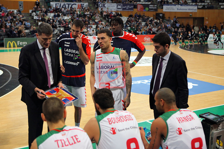 League ACB-Endesa 2015-2016. Game: 16.<br /> FIATC Joventut vs Laboral Kutxa Baskonia: 68-89.<br /> Time Out.
