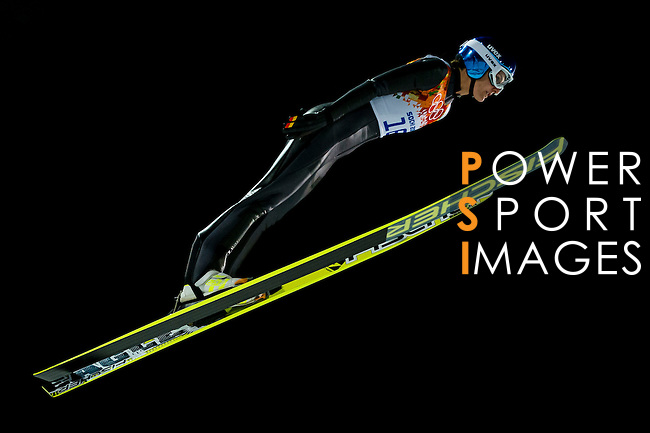Ulrike Graessler of Germany compete during the Ski Jumping Ladies' Normal Hill Individual as part of the 2014 Sochi Olympic Winter Games at RusSki Gorki Jumping Center on February 11, 2014 in Sochi, Russia. Photo by Victor Fraile / Power Sport Images