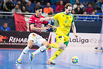 Jaen P. Interior Alan Brandi and Rios R. Zaragoza Anas El Ayyane during Semi-Finals Futsal Spanish Cup 2018 at Wizink Center in Madrid , Spain. March 17, 2018. (ALTERPHOTOS/Borja B.Hojas)