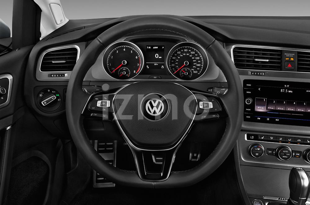 Car pictures of steering wheel view of a 2018 Volkswagen Golf Alltrack TSI SEL 4Motion DSG 5 Door Wagon