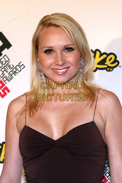 ALANA CURRY.2005 Spike TV Video Game Awards - Arrivals held at the Gibson Amphitheater, Universal City, California..November 18th, 2005.Photo: Zach Lipp/AdMedia/Capital Pictures.Ref: Zl/ADM.headshot portrait ceavage dangling diamond earrings.www.capitalpictures.com.sales@capitalpictures.com.© Capital Pictures.