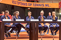 Den Bosch, The Netherlands, Februari 8, 2019,  Maaspoort , FedCup  Netherlands - Canada, Draw, Dutch team<br /> Photo: Tennisimages/Henk Koster