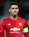 Chris Smalling of Manchester United during the UEFA Europa League match at Old Trafford Stadium, Manchester. Picture date: September 29th, 2016. Pic Matt McNulty Sportimage