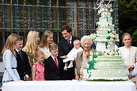 Queen Paola of Belgium celebrates her 80th birthday  in Waterloo - Belgium