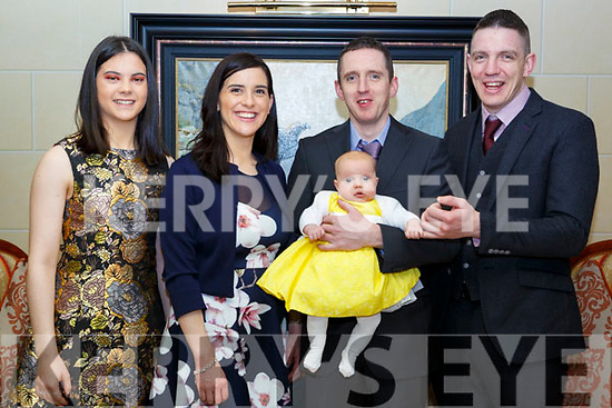 Sarah Langan, Killarney who celebrated her christening with her parents John and Lisa and god parents Melissa Moloney and Thomas Langan in the Plaza Hotel on Saturday