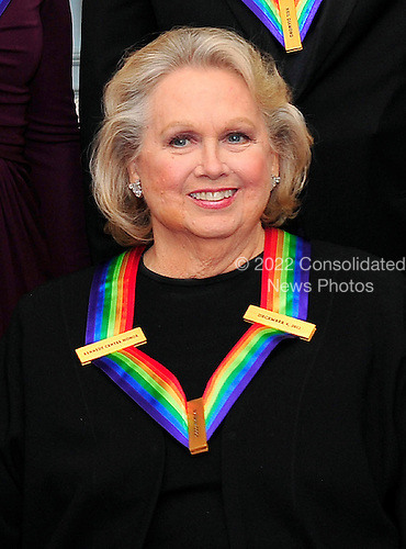 Barbara Cook, one of the recipients of the 2011 Kennedy Center Honors, poses for a photo following a dinner hosted by United States Secretary of State Hillary Rodham Clinton at the U.S. Department of State in Washington, D.C. on Saturday, December 3, 2011. The 2011 honorees are actress Meryl Streep, singer Neil Diamond, actress Barbara Cook, musician Yo-Yo Ma, and musician Sonny Rollins..Credit: Ron Sachs / CNP