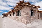 Salt hotel , Playa Blanca hotel, salt lake Salar de Uyuni, near Colchani