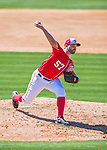 28 February 2016: Washington Nationals pitcher Tanner Roark on the mound during an inter-squad pre-season Spring Training game at Space Coast Stadium in Viera, Florida. Mandatory Credit: Ed Wolfstein Photo *** RAW (NEF) Image File Available ***