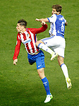 Atletico de Madrid's Fernando Torres (l) and Real Sociedad's Inigo Martinez during La Liga match. April 4,2017. (ALTERPHOTOS/Acero)