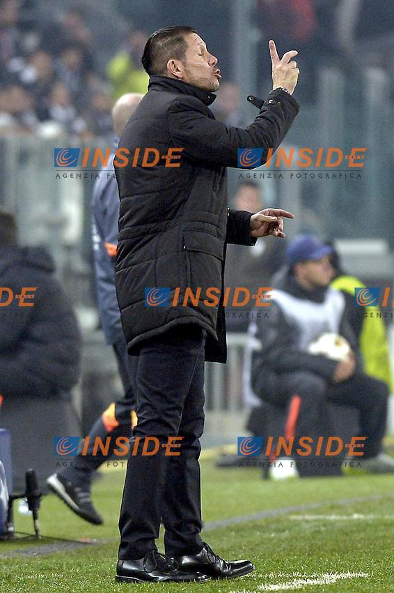 Diego Simeone,<br /> Torino 09-12-2014, Juventus Stadium, Football Calcio 2014/2015 Champions League, Juventus - Atletico Madrid, foto Filippo Alfero/Insidefoto