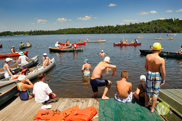 Eagles Mere Lake swim day 2010.