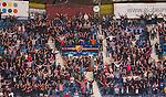 Stockholm 2014-09-05 Ishockey CHL Djurg&aring;rdens IF - Eisb&auml;ren Berlin :  <br /> Djurg&aring;rdens supportrar sjunger under matchen<br /> (Foto: Kenta J&ouml;nsson) Nyckelord:  Djurg&aring;rden Hockey Hovet CHL Eisb&auml;ren Berlin supporter fans publik supporters
