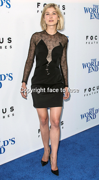 Actress Rosamund Pike arrives at &quot;The World's End&quot; Los Angeles Premiere held at ArcLight Cinemas Cinerama Dome in Hollywood, California, 21.08.2013.<br />