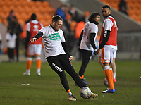 Blackpool players warm up with the level playing field t-shirt<br /> <br /> Photographer Dave Howarth/CameraSport<br /> <br /> The EFL Sky Bet League One - Blackpool v Doncaster Rovers - Tuesday 12th March 2019 - Bloomfield Road - Blackpool<br /> <br /> World Copyright &copy; 2019 CameraSport. All rights reserved. 43 Linden Ave. Countesthorpe. Leicester. England. LE8 5PG - Tel: +44 (0) 116 277 4147 - admin@camerasport.com - www.camerasport.com