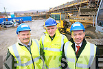 Checking on the progress of the Housing Development under construction on the site of the former Secondary School in Moyderwell are: Tim McSwiney, Senior Engineer, Tralee Town Council,  John Casey, Clerk of Works and Michael Scannell, Tralee Town Clerk.   Copyright Kerry's Eye 2008