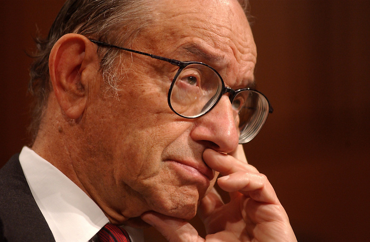 """2Greenspan092001 -- Alan Greenspan, Chairman of the Fedral Reserve, during a hearing on """"The Condition of the Finacial Markets."""""""