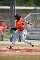 Miami Marlins Ricardo Cespedes (50) during a Minor League Spring Training game against the St. Louis Cardinals on March 26, 2018 at the Roger Dean Stadium Complex in Jupiter, Florida.  (Mike Janes/Four Seam Images)