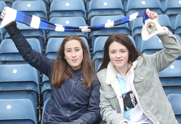 Blackburn Rovers Fans<br /> <br /> Photographer Mick Walker/CameraSport<br /> <br /> The EFL Sky Bet Championship - Blackburn Rovers v Bristol City - Saturday 9th February 2019 - Ewood Park - Blackburn<br /> <br /> World Copyright &copy; 2019 CameraSport. All rights reserved. 43 Linden Ave. Countesthorpe. Leicester. England. LE8 5PG - Tel: +44 (0) 116 277 4147 - admin@camerasport.com - www.camerasport.com