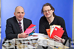Brendan Kennelly, Marketing Manager of Kerry's Eye and artist John Hurley with some of the Thousands of entries to the Kerry's Eye John Hurley Competition.