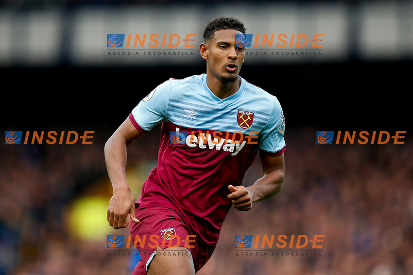 Sebastien Haller of West Ham United during the Premier League match between Everton and West Ham United at Goodison Park on October 19th 2019 in Liverpool, England. (Photo by Daniel Chesterton/phcimages.com)<br /> Foto PHC/Insidefoto <br /> ITALY ONLY