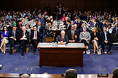 """United States Attorney General Jeff Sessions gives testimony before the US Senate Select Committee on Intelligence to  """"examine certain intelligence matters relating to the 2016 United States election"""" on Capitol Hill in Washington, DC on Tuesday, June 13, 2017.  In his prepared statement Attorney General Sessions said it was an """"appalling and detestable lie"""" to accuse him of colluding with the Russians.<br /> Credit: Alex Brandon / Pool via CNP"""
