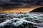 A tourist boat in the maelstrom of The Gulf of Corryvreckan, a whirlpool between the Islands of Jura and Scarba in Scotland's Inner Hebrides, the world's third largest (so they say)