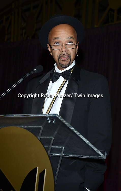 winner for fiction James McBride accepts his award at  the 2013 National Book Awards Dinner and Ceremony on November 20, 2013 at Cipriani Wall Street in New York City.