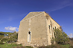 Israel, Upper Galilee, the abandoned Church in Shlomi