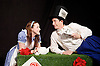 Southbank Centre's Imagine Children's Festival <br /> at the Royal Festival Hall, Southbank, London, Great Britain <br /> 13th February 2015 <br /> <br /> Children watch Alice's House of Cards <br /> with Evelyn Hoskins and Alice<br /> and Ben Ingles as Knave of Hearts <br /> <br /> <br /> Photograph by Elliott Franks <br /> Image licensed to Elliott Franks Photography Services