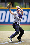 21 MAY 2016:  Hillary Carpenter (1) of the University of North Alabama pitches against Humboldt State University during the Division II Women's Softball Championship held at the Regency Athletic Complex on the Metro State University campus in Denver, CO.  North Alabama defeated Humboldt State 10-1 to force a game three.  Jamie Schwaberow/NCAA Photos