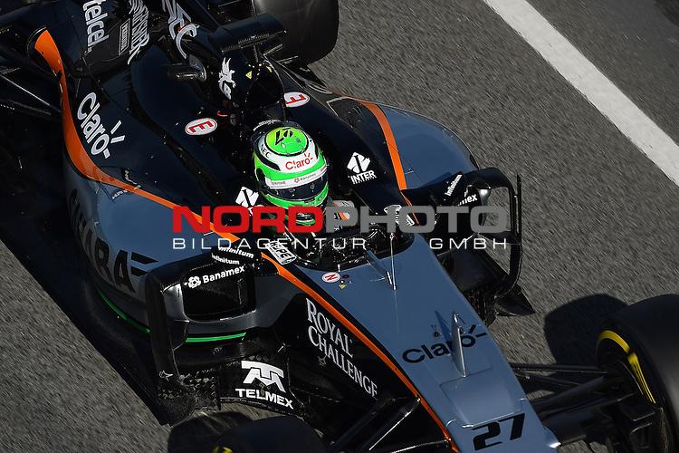 Formel 1 Testfahrten 2016 in Barcelona<br /> Niko H&uuml;lkenberg (GER#27), Sahara Force India Formula One Team<br /> <br /> <br /> Foto &copy; nordphoto /  Bratic