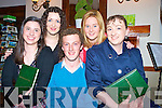 Pictured at the Kerry County Macra night out in the Heights hotel, Killarney on Friday night were John Doyle, Brid Horgan, Georgina Hannon, Aoife McSweeney and Annette Nagle
