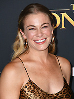 "09 July 2019 - Hollywood, California - LeAnn Rimes. Disney's ""The Lion King"" Los Angeles Premiere held at Dolby Theatre. <br /> CAP/ADM/BT<br /> ©BT/ADM/Capital Pictures"
