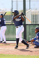 Yefri Carvajal, San Diego Padres minor league spring training..Photo by:  Bill Mitchell/Four Seam Images.