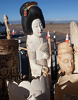 A Japanese Geisha ivory statue, part of a haul estimated by US wildlife officials to be from around 2,000 elephants, are seen at the National Wildlife Property Repository, 13 November 2013, Denver, Colorado, United States, 14 November 2013. The United States Fish and Wildlife Service is set to destroy their entire stockpile of seized ivory dating back to the 1980's by using a rock crushing machine to send a strong signal to poachers in Africa, and consumers in Asia and the United States, that the US government will not tolerate ivory trafficking. Elephant populations are in steep decline due to poaching and rampant demand, mostly from China, but also the US. The US confiscated ivory destruction follows similar symbolic events in the Gabon, Kenya and Philippines.