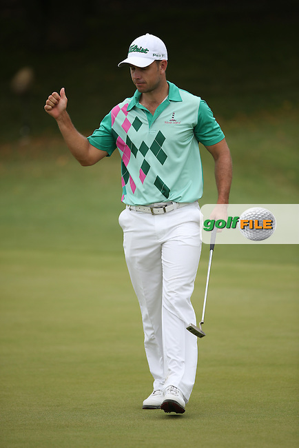 Louis De Jager (RSA) sinks birdie on the 6th during Round Two of the Africa Open 2015 at the East London Golf Club, East London, Eastern Cape, South Africa. Picture:  David Lloyd / www.golffile.ie. 06/03/2015