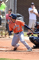 Houston Astros Alex Hernandez (65) during a minor league spring training game against the Atlanta Braves on March 29, 2015 at the Osceola County Stadium Complex in Kissimmee, Florida.  (Mike Janes/Four Seam Images)
